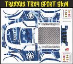 Blue Army Camo Themed Vinyl SKIN Kit & Stickers Fits R/C Traxxas TRX4 Sport Rock Crawler
